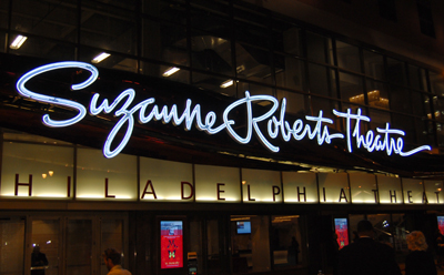 Suzanne Roberts Theatre sign